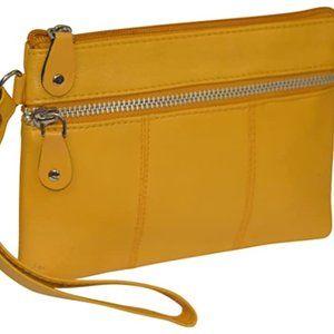 Women's leather handbag storage bag